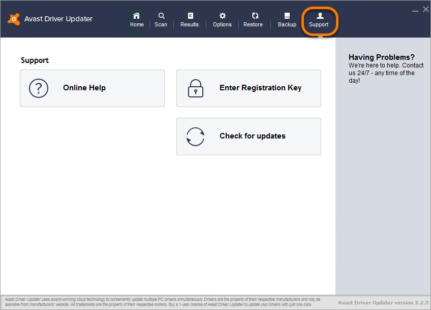 avast driver updater 2.2 3 registration key free