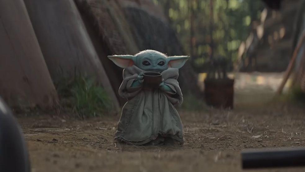 Stitch And Baby Yoda Wallpaper